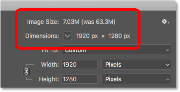 Lowering the pixel dimensions of the image also lowered the file size