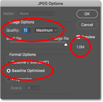 How to save an image as a JPEG for email photo sharing in Photoshop