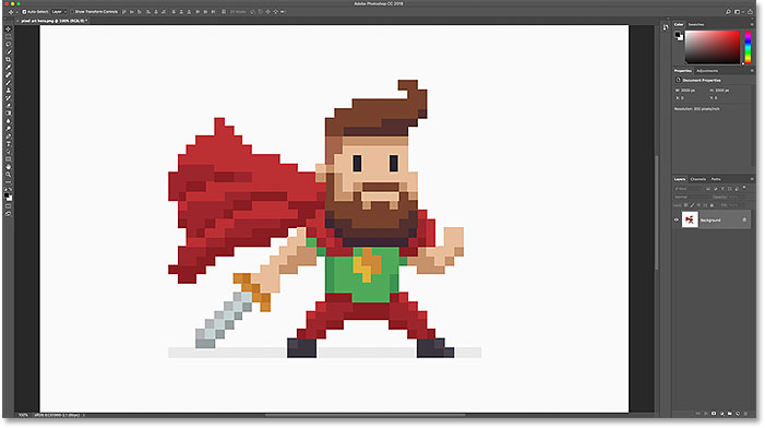 How to enlarge and upsample pixel art in Photoshop