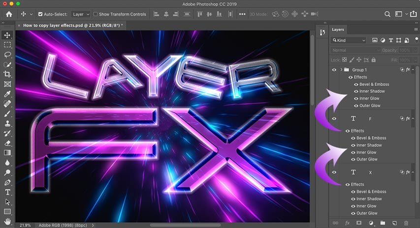 How to Copy Layer Effects in Photoshop