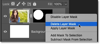 How to delete a layer mask in Photoshop