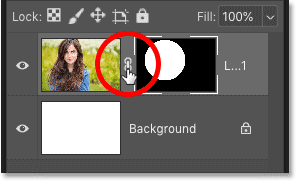 How to unlink a layer mask from its layer in Photoshop