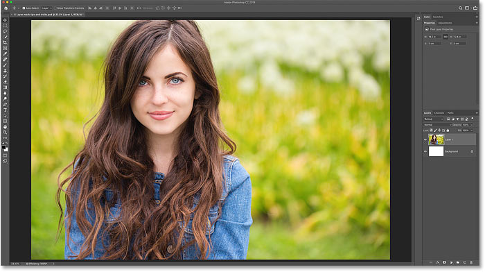 The first image that will be used to show the layer mask tips and tricks in Photoshop