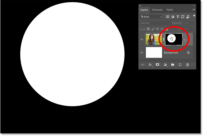 How to view a layer mask in your Photoshop document