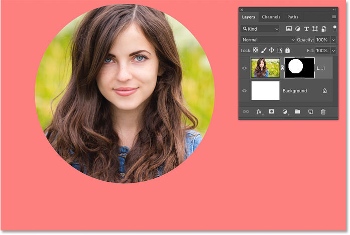 How to view a layer mask in Quick Mask mode in Photoshop
