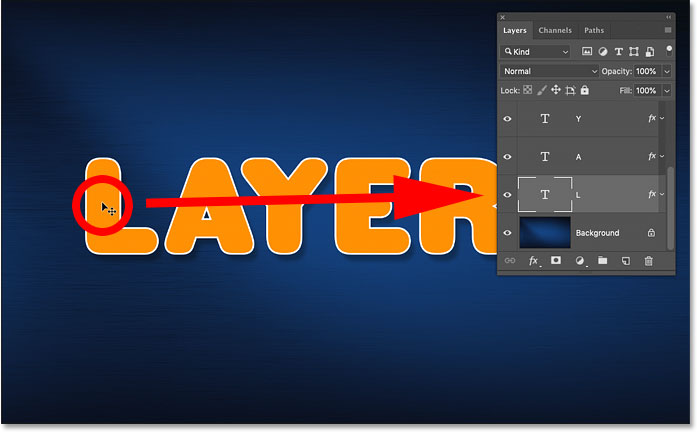 How to auto-select a layer in Photoshop