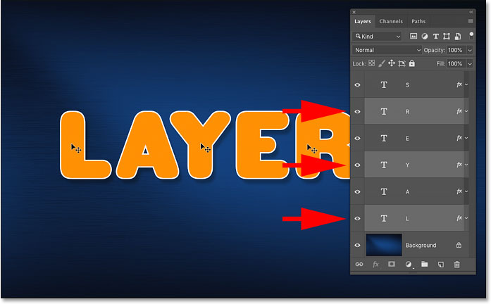 Shift-clicking to auto-select multiple layers in Photoshop