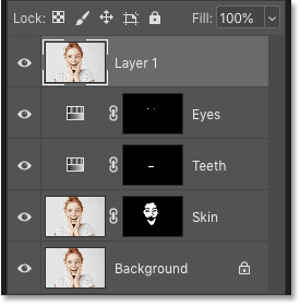 A merged copy of the existing layers appears in Photoshop's Layers panel