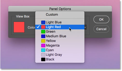 Changing the color of the View Box in the Navigator panel