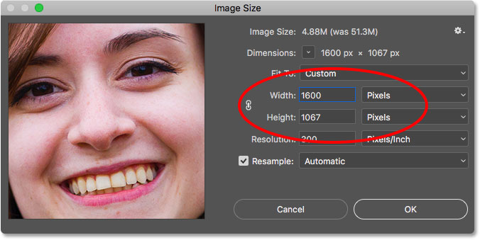 Resizing an image to match the size of another in Photoshop