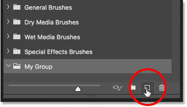 Creating a new brush preset in Photoshop CC 2018
