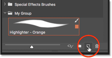 Creating a second brush preset in the Brushes panel in Photoshop
