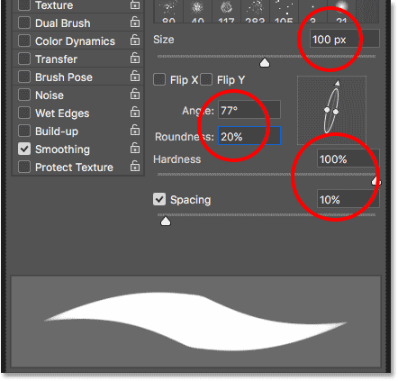 The Brush Settings panel in Photoshop CC 2018
