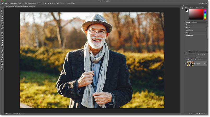 The photo that will be used in this tutorial. Credit: Adobe Stock