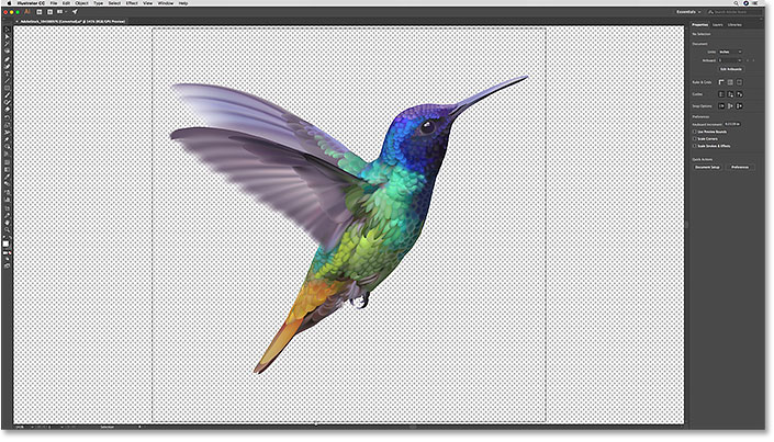 The vector art in Illustrator that will be pasted as a smart object into Photoshop