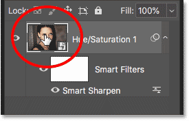 Reopening the smart object to edit its contents in Photoshop