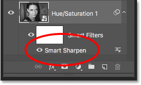 The Smart Sharpen smart filter remains even after editing the smart object's contents in Photoshop