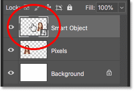 Double-clicking on the smart object thumbnail.