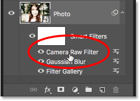 How to reopen the Camera Raw Filter smart filter in Photoshop