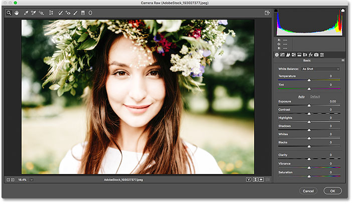 How to use the Camera Raw Filter as a smart filter in Photoshop