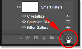 How to delete a smart filter in Photoshop