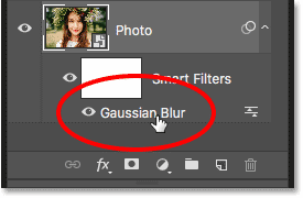 How to reopen a smart filter in Photoshop