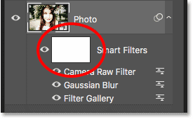 The smart filters layer mask in Photoshop