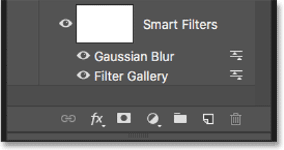The order of the smart filters has been changed