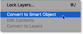 How to convert a layer to a smart object in Photoshop