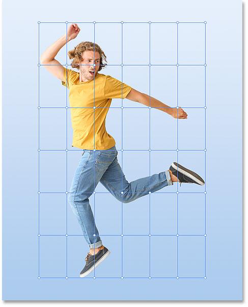 A custom 6x6 warp grid created in Photoshop CC 2020
