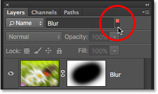 Clicking the light switch to enable or disable the Search Bar in the Layers panel. Image © 2016 Photoshop Essentials.com