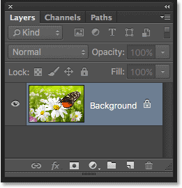 The Layers panel in Photoshop CS6.