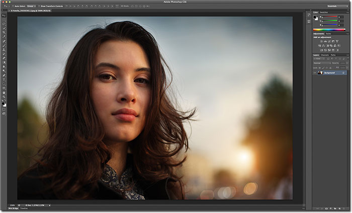 The new darker interface in Photoshop CS6.