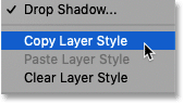 How to copy a layer style in Photoshop