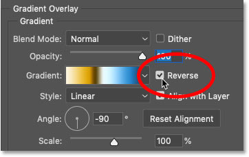How to reverse the colors in a gradient in Photoshop