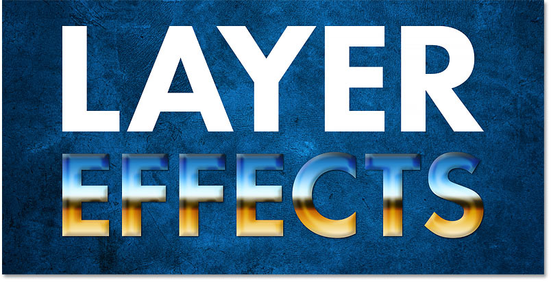 The layer effects have been moved from one layer to another in Photoshop