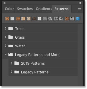 All of Photoshop CC 2020's patterns are now available.
