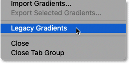 How to load legacy gradients in Photoshop CC 2020