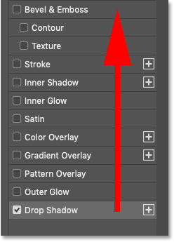 The order that layer effects are applied in Photoshop