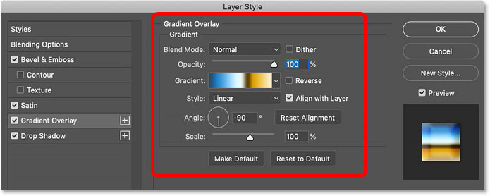 How to edit a layer effect within a layer style in Photoshop
