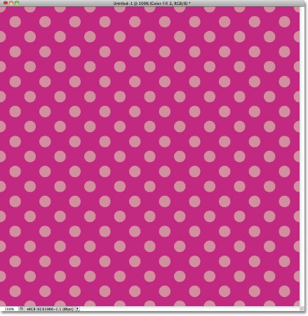 Pink repeating circles pattern in Photoshop.