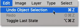 How to undo steps with the Object Selection Tool in Photoshop CC 2020.