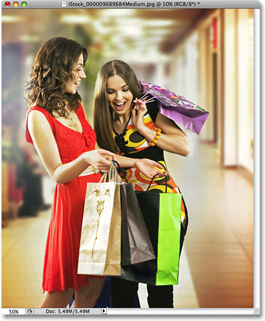 A photo of two women shopping. Image licensed from iStockphoto by Photoshop Essentials.com