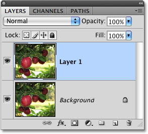 The Layers palette in Photoshop.