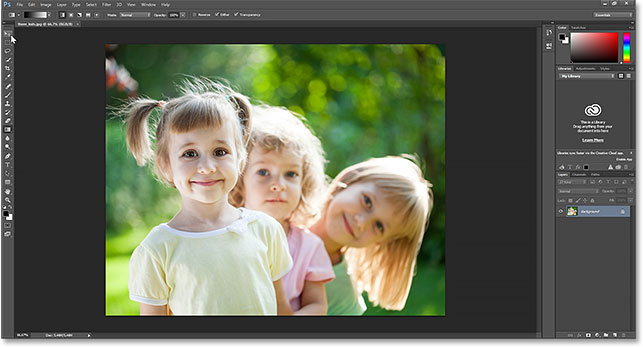 The selected image opens in Photoshop. Image © 2014 Photoshop Essentials.com