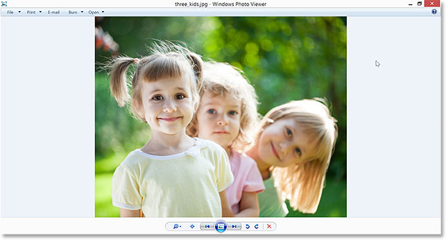 Windows 8 ignored Photoshop and instead opened the image in Windows Photo Viewer. Image © 2014 Photoshop Essentials.com