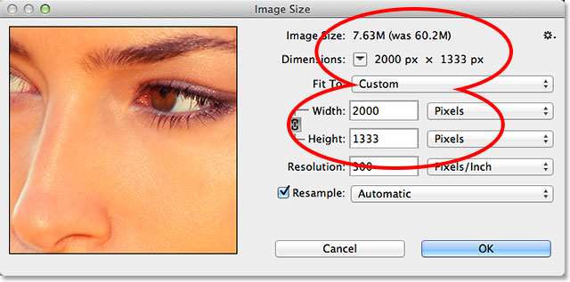 Resampling the image in Photoshop CC. Image © 2013 Photoshop Essentials