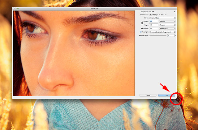 Resizing the Image Size dialog box in Photoshop CC. Image © 2013 Photoshop Essentials