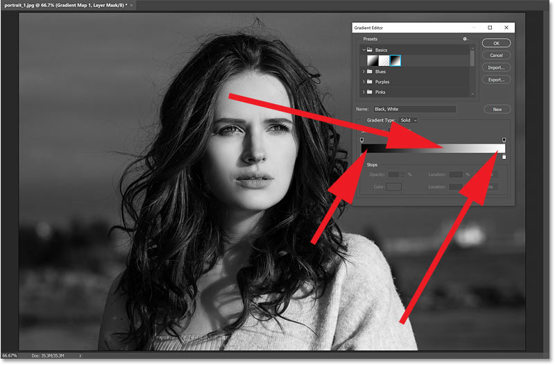 How gradient maps work in Photoshop