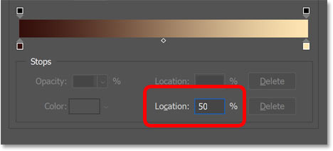 Resetting the midpoint marker's location to 50 percent.